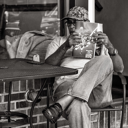 At the coffee house bw--3015