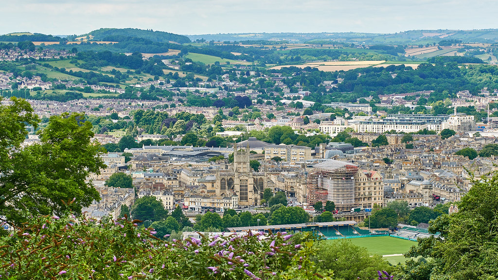 Distant view of Bath