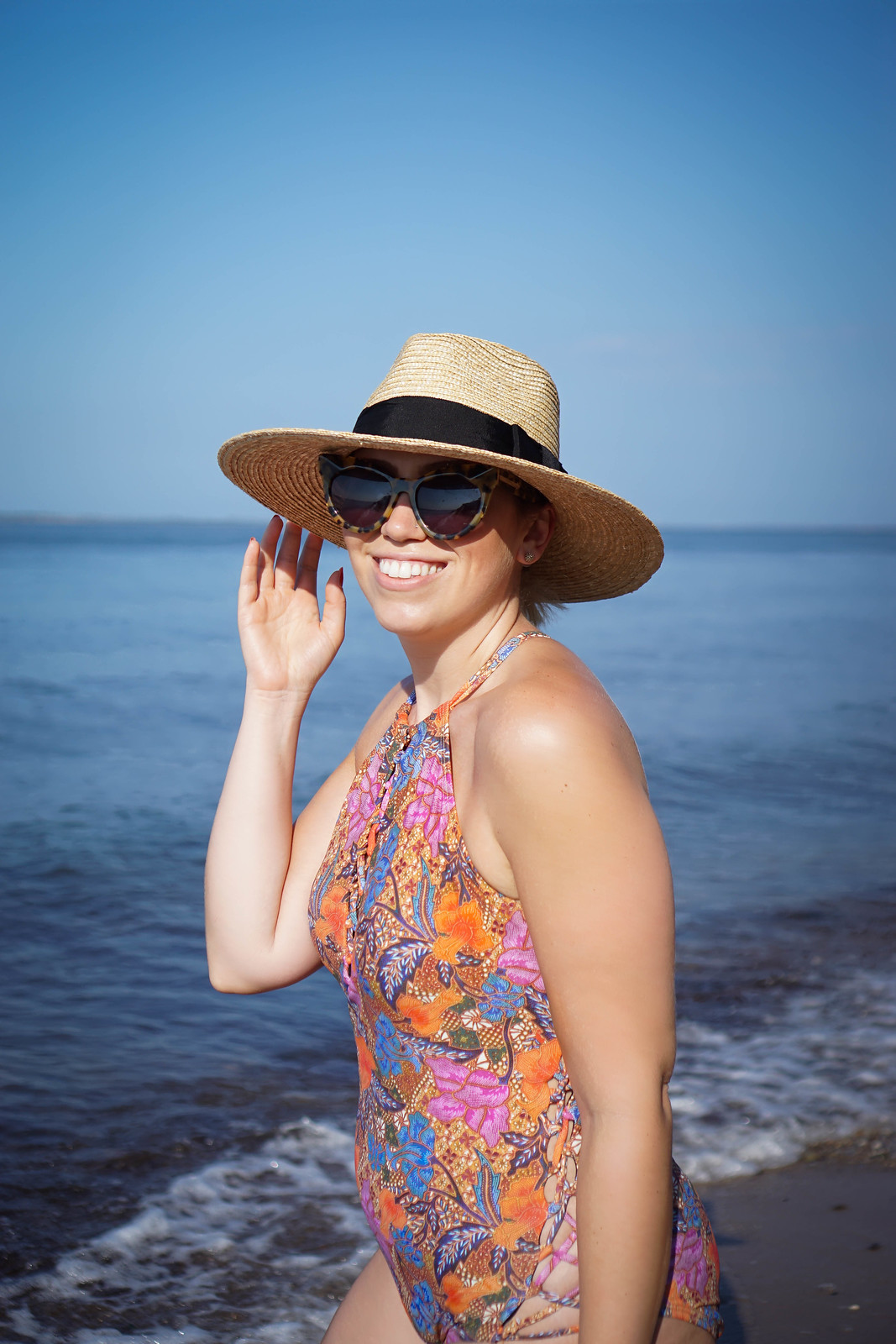 I Love My Body, But I Don't Always Like It | Swimsuits for All Prodigy One Piece Swimsuit Nordstrom Brixton Straw Hat East Hampton Beach New York