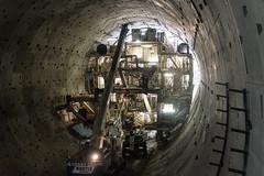 Disassembling Bertha inside the SR 99 tunnel