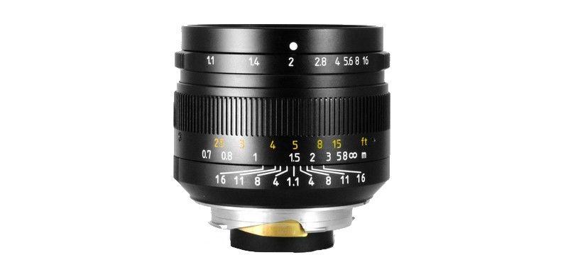 7Artisans : L'objectif 50mm f/1.1 à 350 $