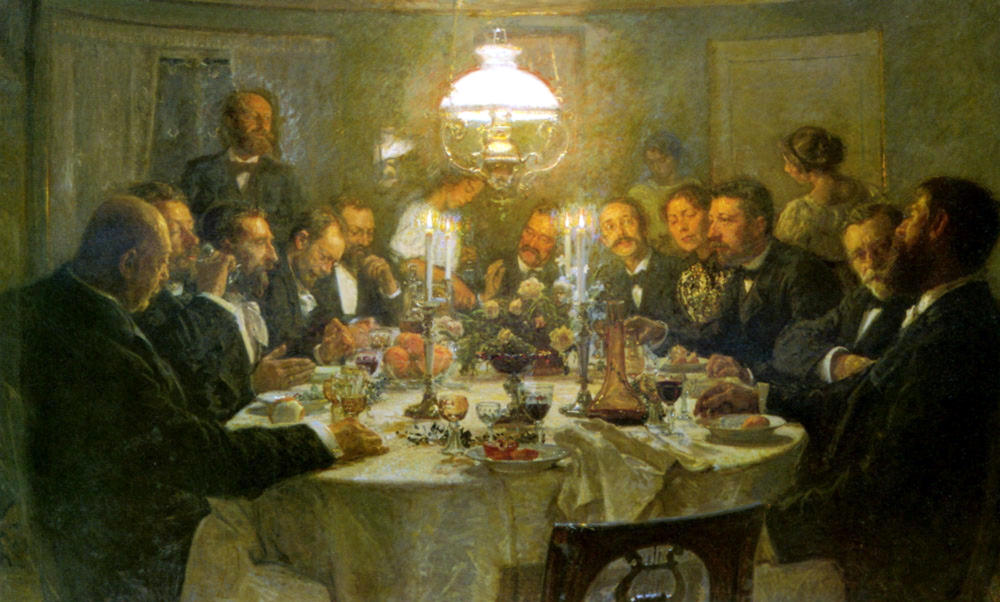 An Artists' Gathering by Viggo Johansen, 1903