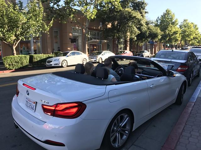 BMW  white car,  July 14, 2017