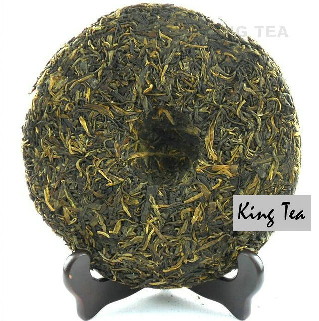 Free Shipping 2008 ShuangJiang MENGKU King Arbor Beeng Cake Bing 500g YunNan MengHai Organic Pu'er Raw Tea Sheng Cha Weight Loss Slim Beauty