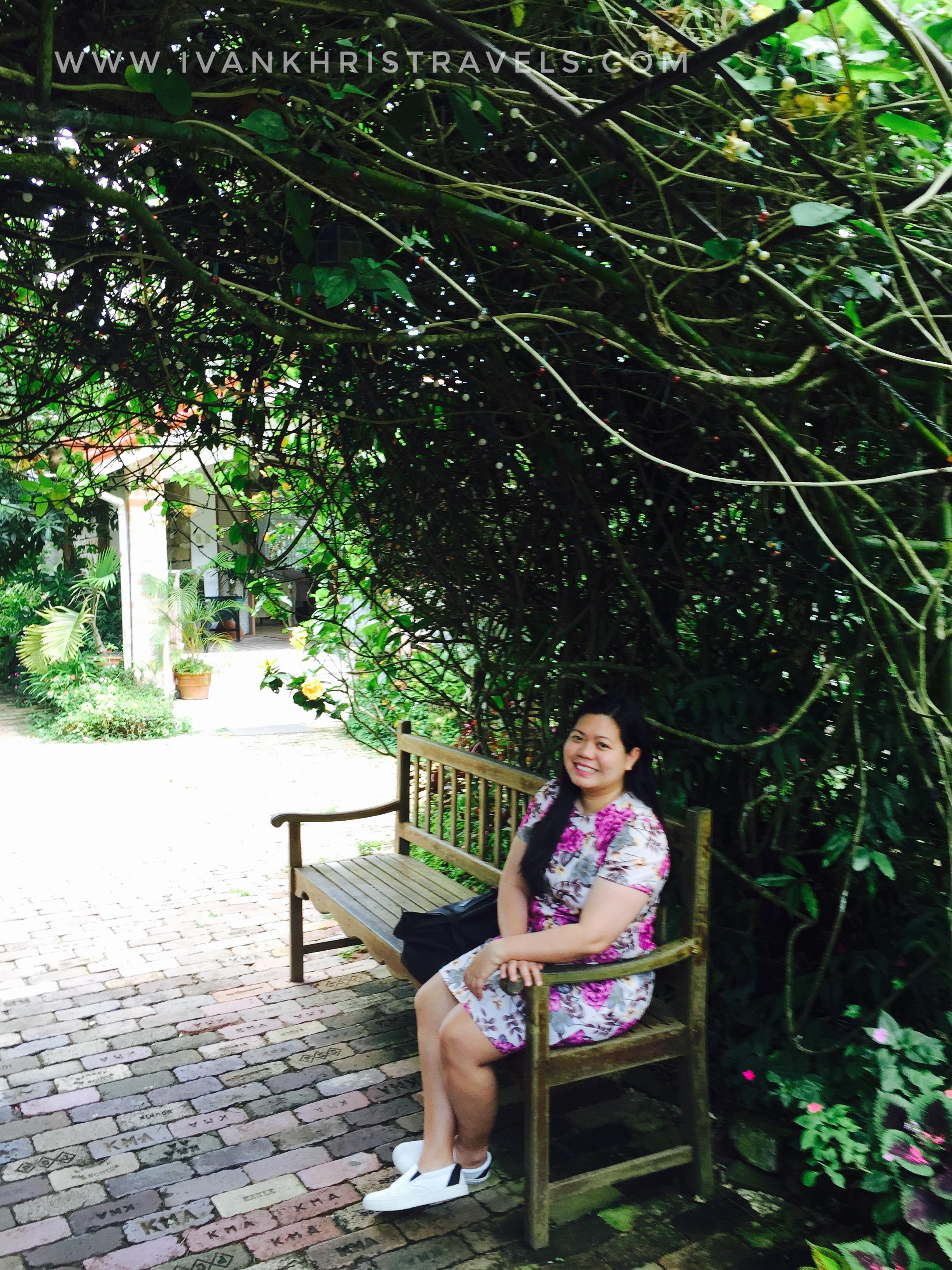 Sonya's Garden garden bench
