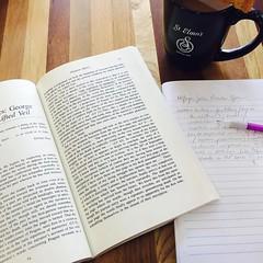 Coffee & biscotti & George Eliot & haunted narratives. #ilovecoffeeshopdays, #phdlife, #victorian