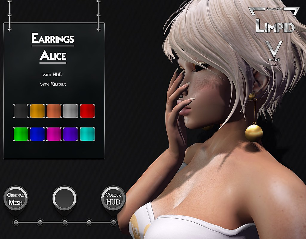 Limpid Earrings Alice [Exclusive Suicide Dollz Event] - SecondLifeHub.com