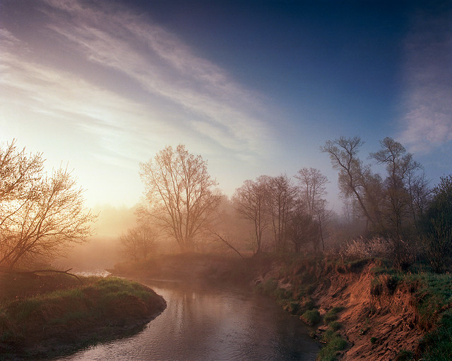 By the river Bobrza dawn