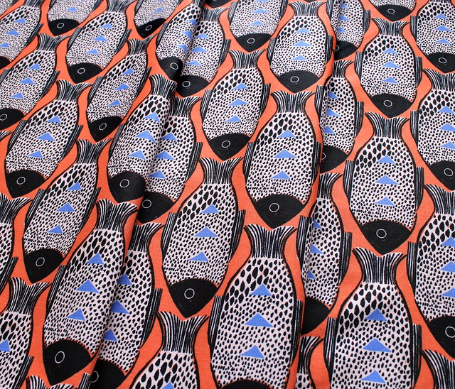 COTTON+STEEL Magic Forest 2054-01 Fish Orange