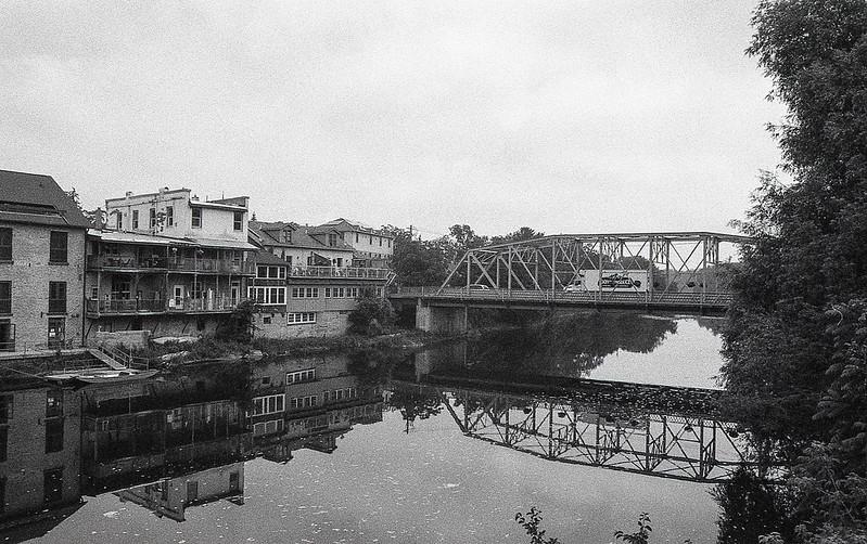 cast Iron Bridge Across the Grand River