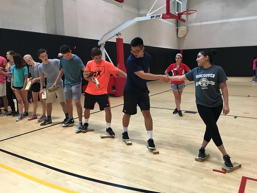 INTL and LAWA students test teamwork