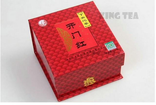 Free Shipping 2011 XiaGuan KaiMenHong Boxed Tuo Bowl 250g YunNan MengHai Organic Pu'er Raw Tea Weight Loss Slim Beauty Sheng Cha