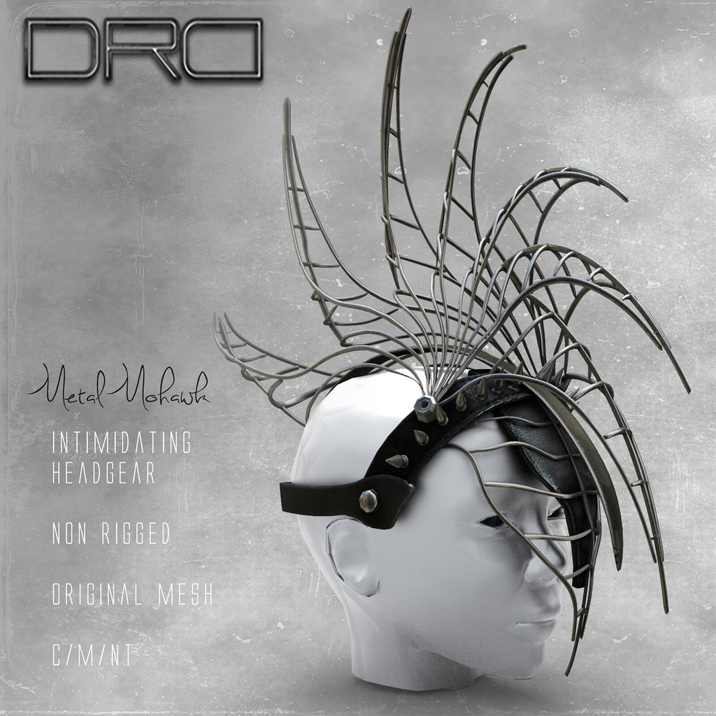 DRD Metal mohawk - SecondLifeHub.com