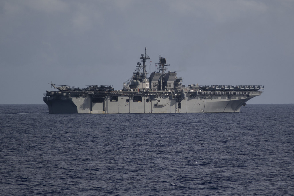 America Pulls Into Changi Naval Base To Support Uss John S Mccain