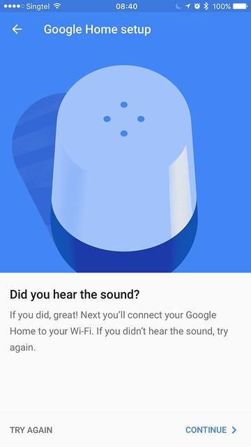 Google Home iOS App - Setup #5