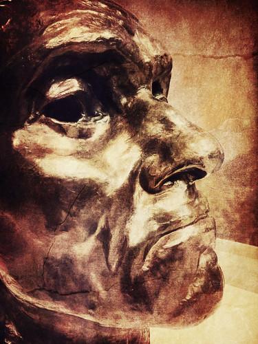 Rodin Sculptured Head in Profile from Portland Art Museum, Oregon