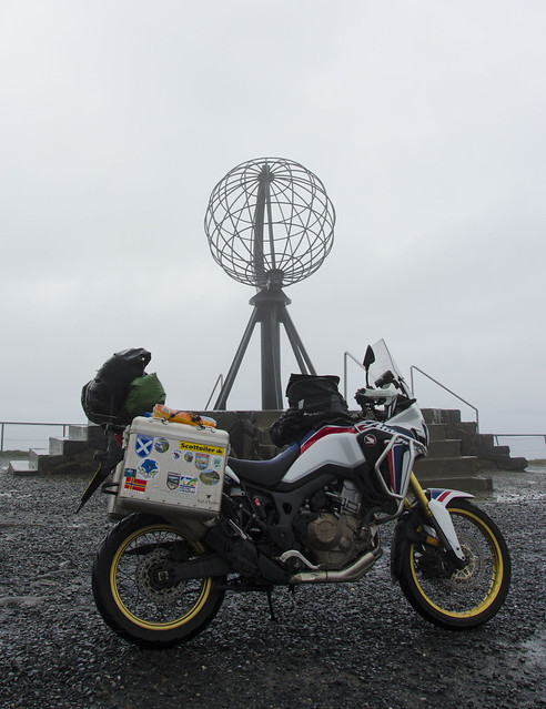 africa twin at nordkapp