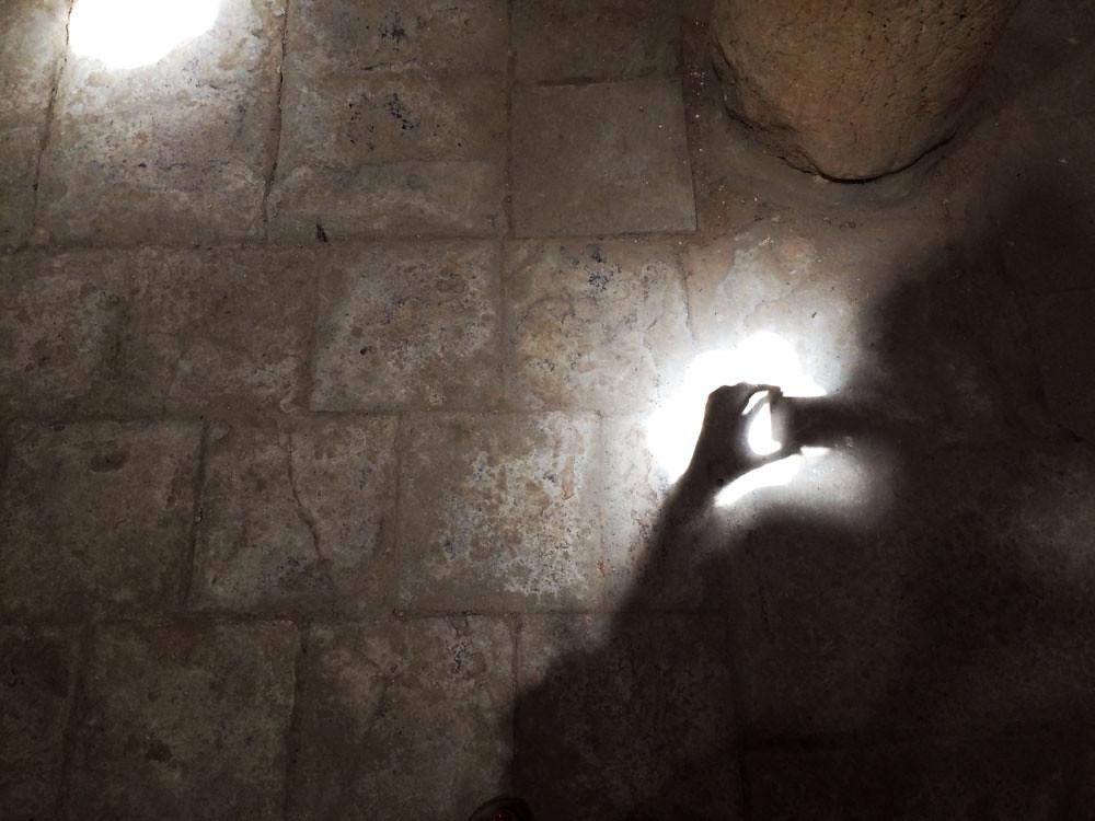 baños árabes ronda_patrimonio_sala baños templados_tragaluz estrella_