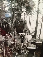 BTW I'm on the island for a memorial luncheon for my Aunt Bianca and Uncle Gordon. Bianca died in November and Friday was her birthday. This is my favorite picture of them, bike touring Vancouver Island.