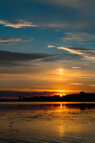 canoneosm canon clouds landscape river sunrise summer sky nature