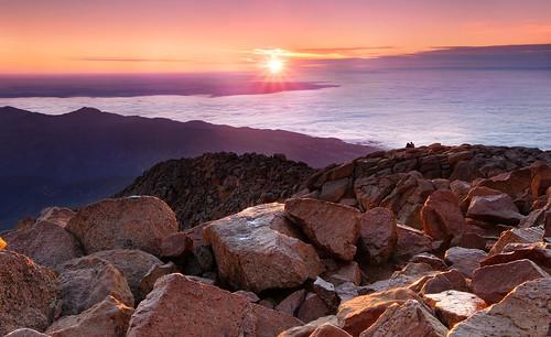 fuji fujifilm sunrise summer starburst mountain pikes peak xt2 leefilters landscape colorado coloradosprings coloradolandscape