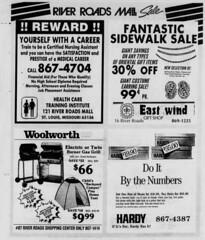 River Roads Mall sale newspaper ad (1988)