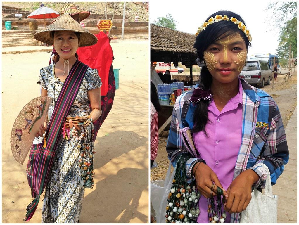 Dziewczyny sprzedające pamiątki Mingun