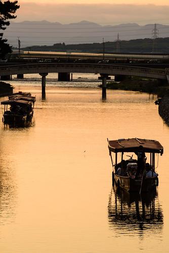 宇治市 京都府 japan kyoto 宇治川 川 river 夕景 sunset