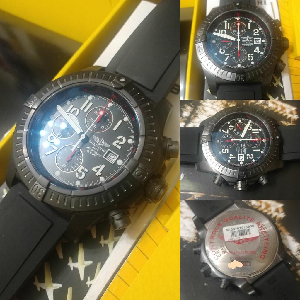 Ltd3000 Breitling M13370 Super Avenger Blacksteel Special Edition 48.4mm Fullset