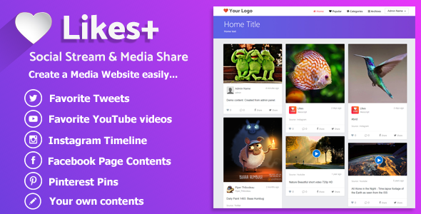 Likes Plus v1.0 – Social Stream & Media Share