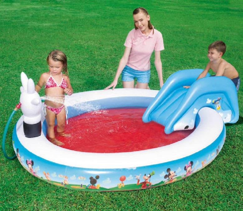 Piscina gonfiabile per bambini con scivolo mickey mouse piscine bestway - Scivolo gonfiabile per piscina ...