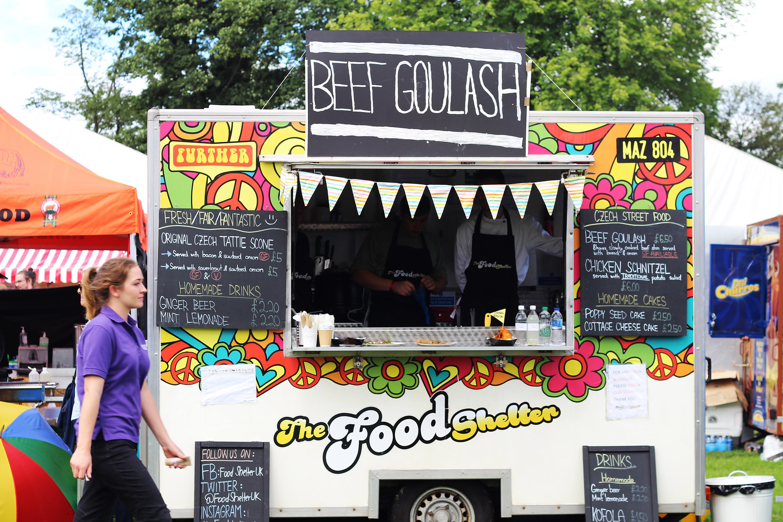 Edinburgh Foodies Festival Summer Inverleith Park Scotland UK lifestyle blogger