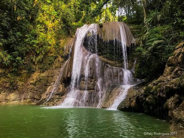 Cascada del rio Guatemala, San Sebastián. Foto tomada con el iPhone 7, de prueba.