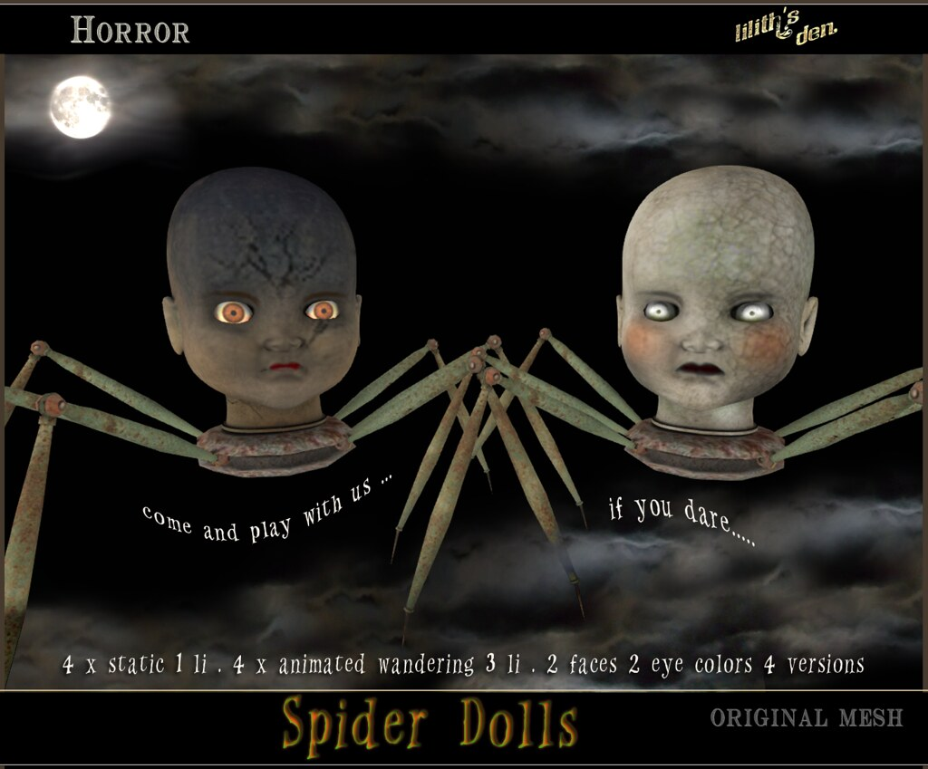 LD Spider Dolls - SecondLifeHub.com