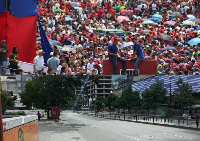 Caracas teve dia com intensas atividades políticas - Créditos: Leonardo Fernandes e Jônatas Campos