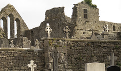 Tombstones in Cong Abbey, Ireland