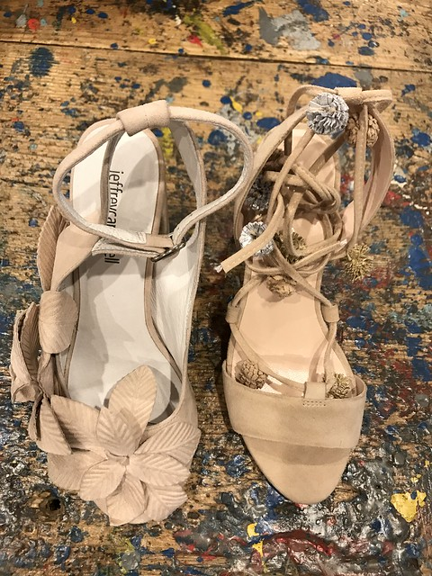 Anthropologie, beige sandals
