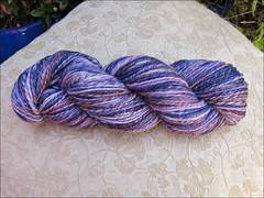 Ember Indigo Silk handspun