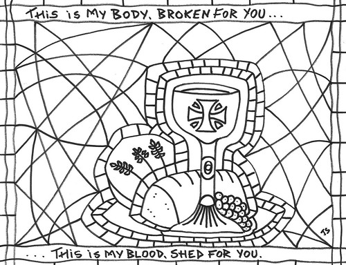 Communion Coloring Page