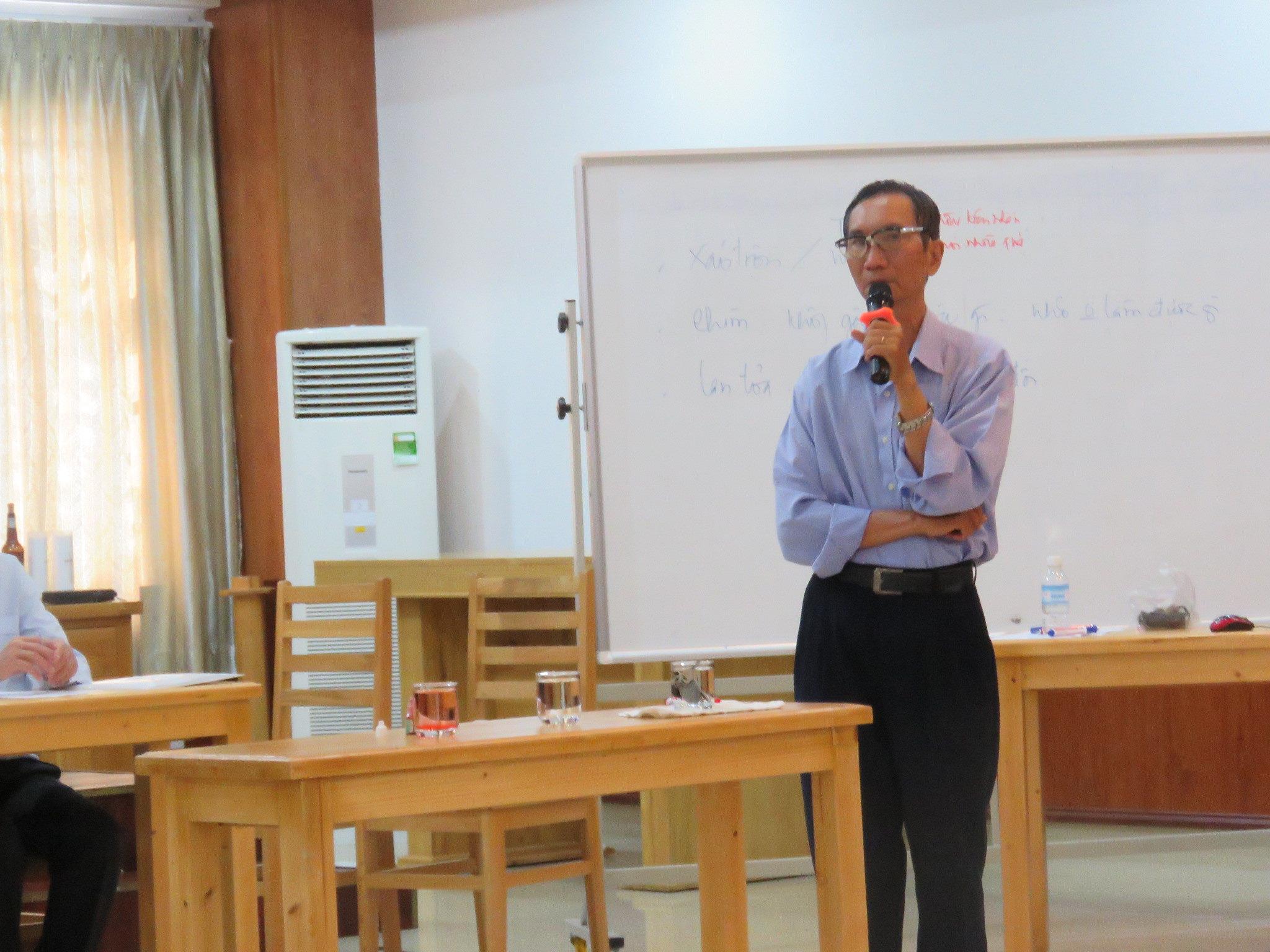 Giảng viên Th.s Chu Dũng chia sẻ đề tài tập huấn