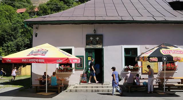 Beer for 0.9 Euro at the local pub Banícka krčma