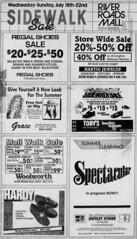 River Roads Mall sidewalk sale newspaper ad (1990)
