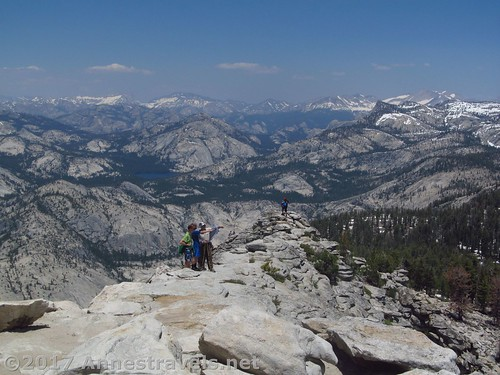 Views from the top of the Cloud's Rest Trail, Yosemite National Park, California