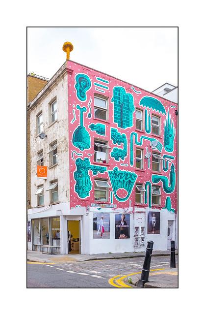 Street Art (HNRX, Christiaan Nagel), East London, England.