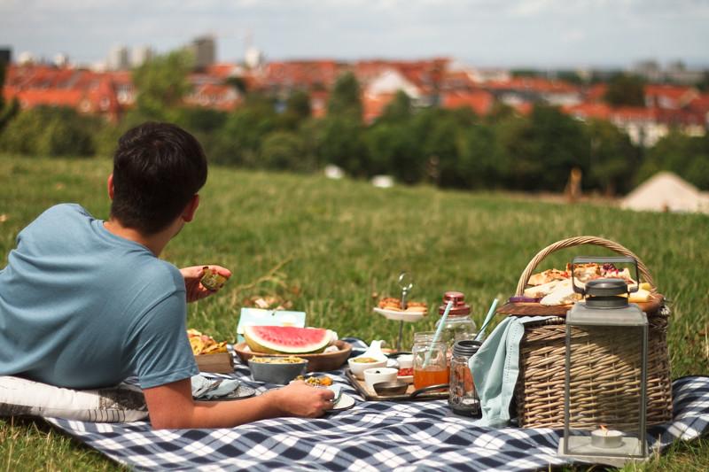 Picknick-fantastische-Aussicht-gutes-Essen