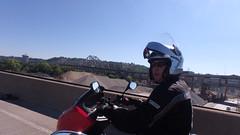 Ben waiting to get over CB Bridge to KY