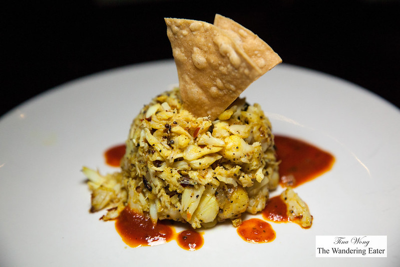 Crab chettinadu - Lump crabmeat, garlic, ginger, toasted coconut and spices