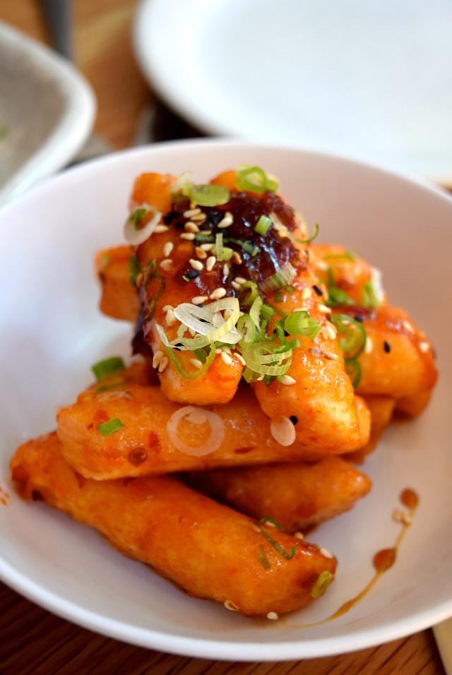 Chilli Rice Cakes at Bo Drake, Soho | www.rachelphipps.com @rachelphipps