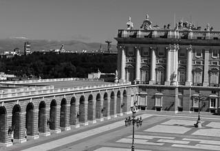 Palacio Real desde la Cúpula de la Almudena. Madrid.