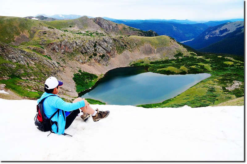 Looking down at Heart Lake from the Continental Divide (5)